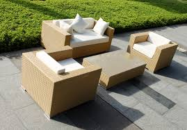 Pallet Patio Furniture Cushions by Exterior Unique Beige Wicker Loveseat With White Cushions And