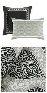 Black And White Bed Sheets Black White Grey Damask Scroll Teen Bedding Twin Xl Full Queen