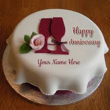 anniversary cake write your name on anniversary cakes pictures online edit