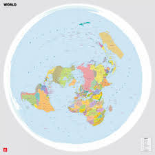 World Political Map by World Political Map In The Polar Projection According To An