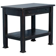 Pine Side Table Country Pine Side Table With Shelf Painted Black Circa 1880 At