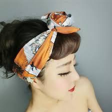 1950s headband 1950s women vintage rockabilly pin up style japan fuji print