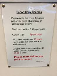 please think before you print in colour