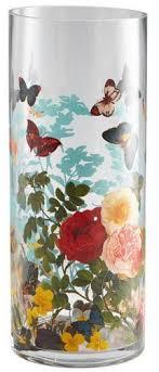 butterfly effect vase cyan design decorative