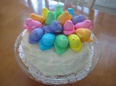 Decorating Easter Cake With Peeps peep cake so cute easter spring cupcakes u0026 cakes pinterest