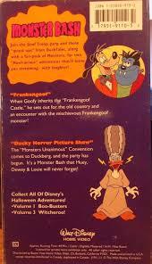 Halloween Monster Bash by Walt Disney Home Video Monster Bash Halloween Adventure Volume 2
