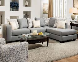 American Freight Living Room Furniture Light Gray Two Splendor Gray 2 Pc Sectional Sofa