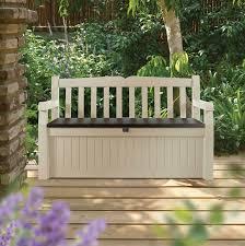 eden plastic garden storage bench departments diy at b u0026q
