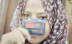 Eyeshadow Viva Warna review viva blush on duo no 4 orange brown