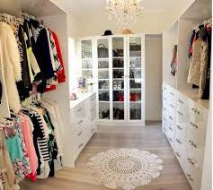 beautiful walk in closet for a master bedroom big but not too