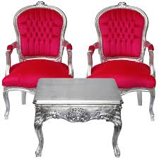 Pink Armchairs Cute Royal Style Baroque Dining Room Set 2 Armchairs Pink Velvet