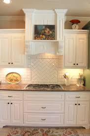 granite kitchen subway tile backsplash cut wood countertops sink
