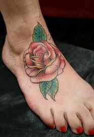 foot red rose tattoo by skin deep art best tattoo ideas gallery