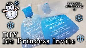 dress invitations how to make an ice princess dress invitation diy kids party