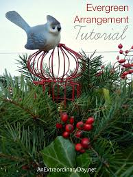 how to make a fresh evergreen centerpiece for christmas an