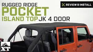 jeep wrangler rugged ridge pocket island top 2010 2017 jk 4 door