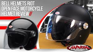 motorcycle equipment bell helmets riot open face motorcycle helmet review youtube