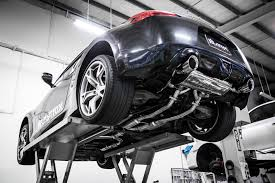 nissan 370z matte black armytrix stainless steel valvetronic catback exhaust system dual