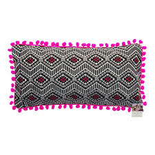 Knitted Cushion Cover Patterns Pink Hand Knitted Cotton Cushion Bersama