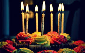 birthday cake candles colored muffins celebration cake birthday candles