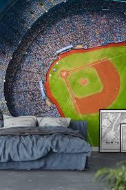 baseball field wallpaper mural wall murals youll love wall baseball wall mural wallpaper sport wall murals pinterest