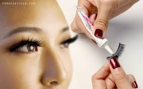 how to apply false eyelashes from head to toe