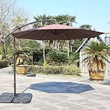 Patio Offset Umbrella Amazon Com Best Choice Products 10 U0027 Patio Offset Umbrella