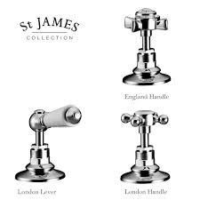 st james traditional long reach basin taps uk bathrooms st james traditional long reach basin taps