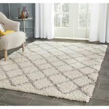 safavieh dallas shag ivory grey rug 8 u0027 x 10 u0027 overstock