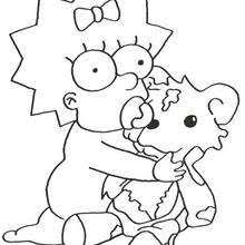 simpson coloring pages marge the chef coloring pages hellokids com