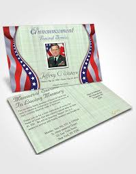 bifold order of service obituary template brochure blissful