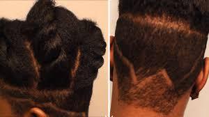 undercut women s designs natural hair undercut design u0026 goddess twist youtube