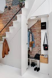 Brick Stairs Design H Apartment With Terrrace Storage Stairs Against