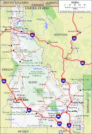 highway map of the united states highway map idaho map