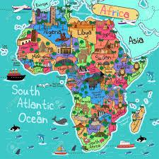 mapa de africa una ilustración vectorial de un mapa de áfrica en el estilo de