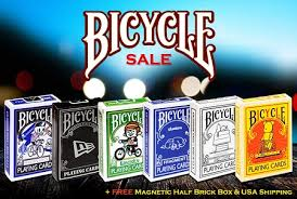6 deck set of bicycle cards magnetic box on sale