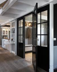 mud room with black lacquered doors welcome home pinterest