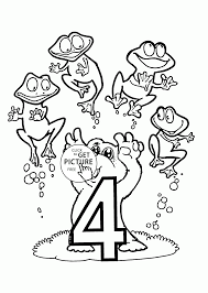number 4 coloring pages for preschoolers counting numbers
