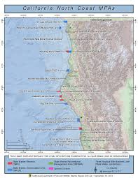 Map Of California And Oregon by Northern California Marine Protected Areas