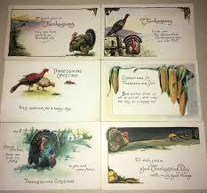 vintage thanksgiving postcards 6 nos vintage thanksgiving postcards old store stock never used