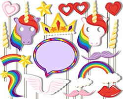 photobooth props rainbow unicorn pegasus photo booth props kit 20