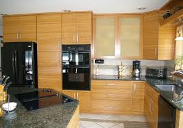 kitchen awesome bamboo and white kitchen cabinets also white