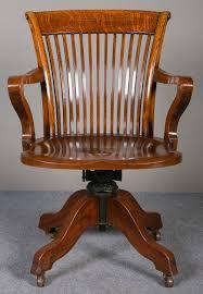 oak swivel u0026 reclining desk chair antiques atlas