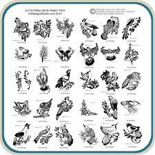 pottery birds classic carving patterns