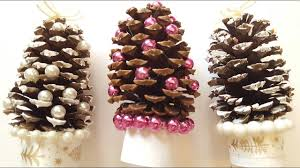 pinecone christmas trees diy holiday crafts youtube