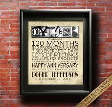 work anniversary gifts work anniversary gift 10 year 15 year 20 year 25 year 30 year