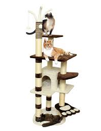 Cat Scratcher Tower 64 U201d Brown White Pet Cat Tree Play House Tower Condo Bed Scratch