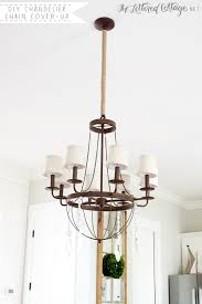 diy chandelier chain cover up the lettered cottage