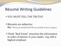 guidelines for what to include in a resume engineering your résumé ppt