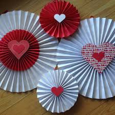 paper fan circle decorations valentines fan paper fan pinwheels wall from ciciboudecor on